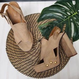 Chloe suede platform block heel sandal 41